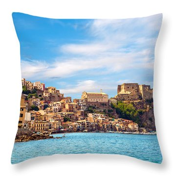 Evening Scilla Castle Throw Pillow