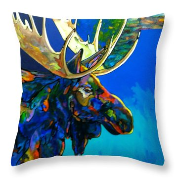 Throw Pillow featuring the painting Evening Shadows by Bob Coonts