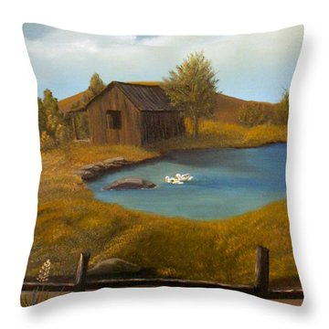 Evening Solitude Throw Pillow