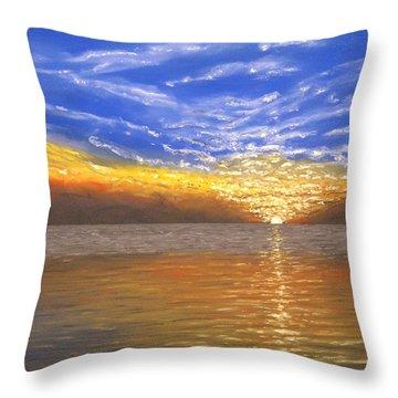 Evening Splash Throw Pillow