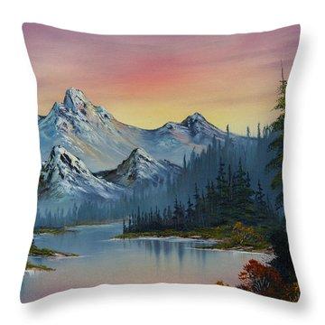 Evening Splendor Throw Pillow by C Steele