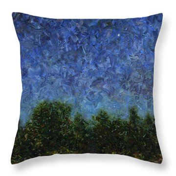 Throw Pillow featuring the painting Evening Star - Square by James W Johnson