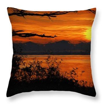 Evening Tide Throw Pillow by Richard Farrington