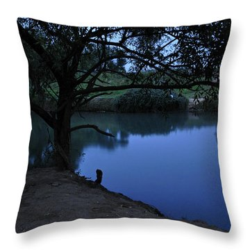 Evening Time At Kfar Blum Throw Pillow