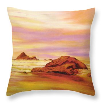 Evening Twilight   Pastel Throw Pillow