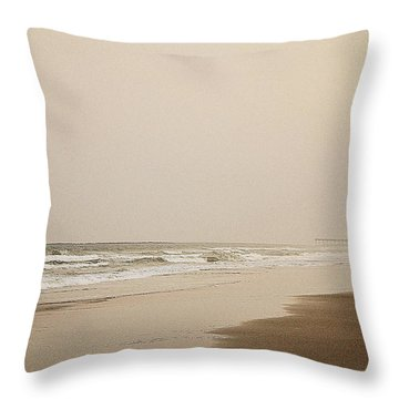 Evening Walk On Wrightsville Beach Throw Pillow