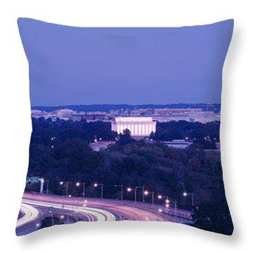 Evening Washington Dc Throw Pillow