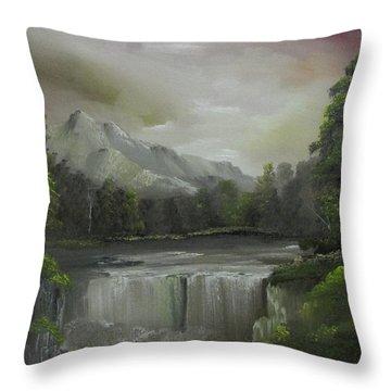 Evening Waterfalls Throw Pillow