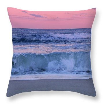 Evening Waves - Jersey Shore Throw Pillow