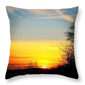Evening Winter Sky Throw Pillow
