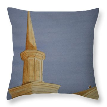 Evening Worship Throw Pillow by Stacy C Bottoms