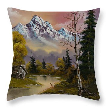 Evening's Delight Throw Pillow by C Steele