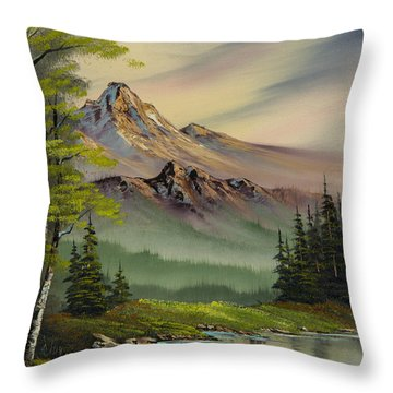 Evenings Peace Throw Pillow by C Steele