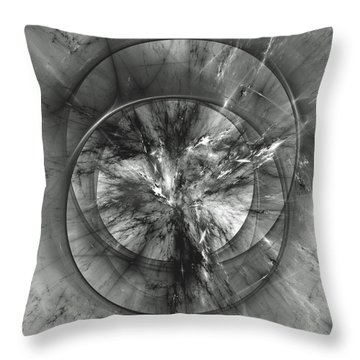 Throw Pillow featuring the digital art Event Horizon by Arlene Sundby
