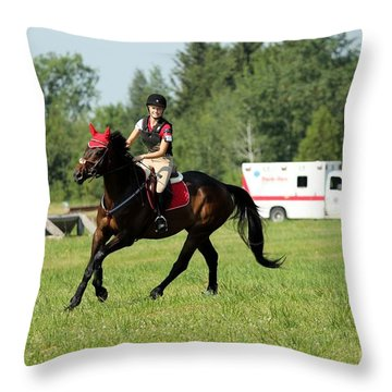 Eventing Fun Throw Pillow