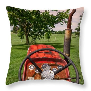 Ever Drive A Tractor Throw Pillow