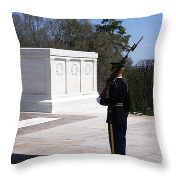 Ever On Guard Throw Pillow
