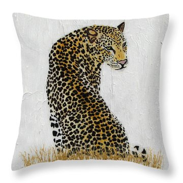 Throw Pillow featuring the painting Ever Watchful by Stephanie Grant