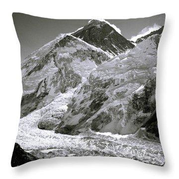 Everest Sunrise Throw Pillow by Shaun Higson