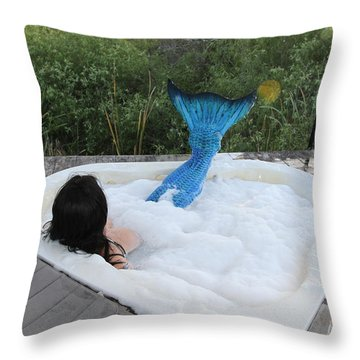 Everglades City Florida Mermaid 018 Throw Pillow