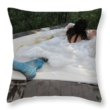 Everglades City Florida Mermaid 071 Throw Pillow by Lucky Cole