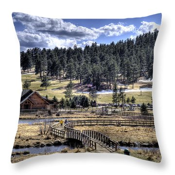 Evergreen Colorado Lakehouse Throw Pillow