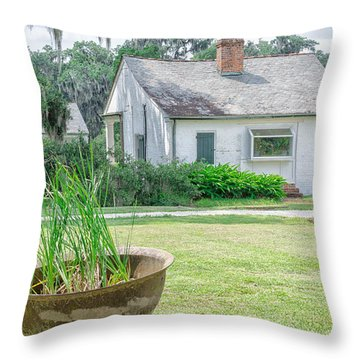 Evergreen Plantation Back Throw Pillow