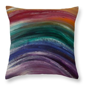 Everlasting Covenant Rainbow Throw Pillow