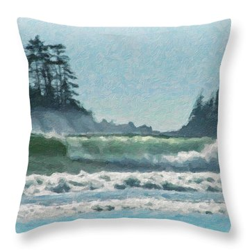 Everlasting Surf Throw Pillow