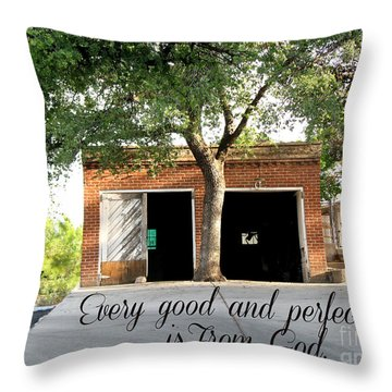 Every Good And Perfect Gift Throw Pillow