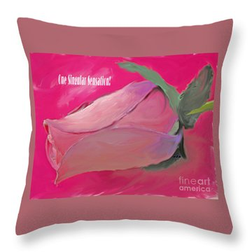 Every Move Throw Pillow by Rita Brown
