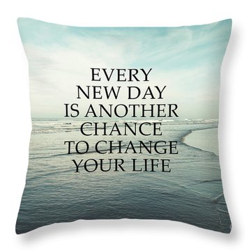 Throw Pillow featuring the photograph Every New Day by Sylvia Cook