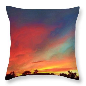 Every Sunset Is A Gift Throw Pillow by Rick Todaro