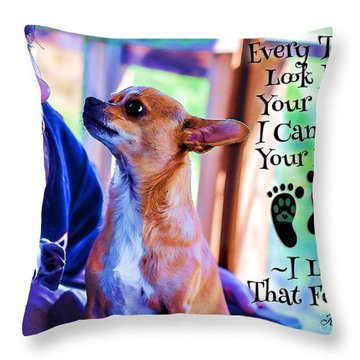 Every Time I Look Into Your Eyes Throw Pillow