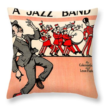 Everybody Loves A Jazz Band Throw Pillow by Bill Cannon