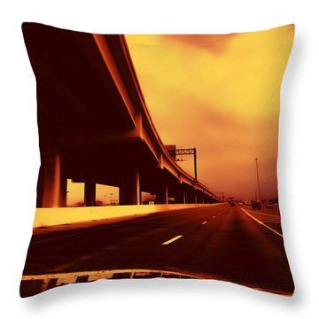 Everybody's Out Of Town - Sundown Throw Pillow by Wendy J St Christopher