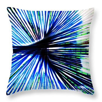 Everyday Abstract 4 Throw Pillow by Nancy E Stein