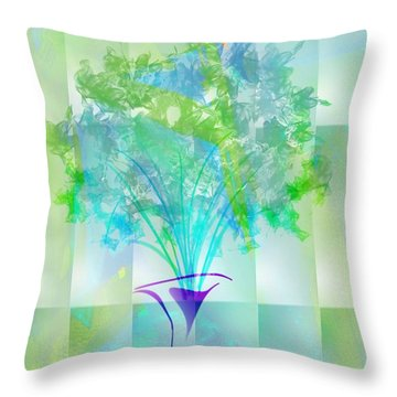Throw Pillow featuring the digital art Everyday Bouquet by Frank Bright