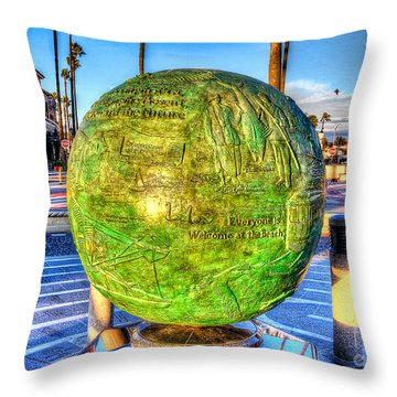 Throw Pillow featuring the photograph Everyone Is Welcome At The Beach by Jim Carrell