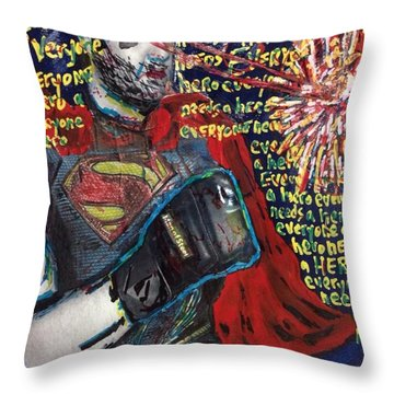 A Hero Throw Pillow