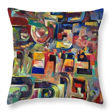 Everyone That Discounts Another It Is With His Own Fault That He Discounts The Other Throw Pillow by David Baruch Wolk