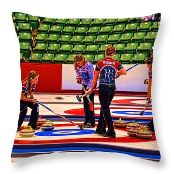 Everyone Watch The Rock 2 Jones And Muirhead Throw Pillow by Lawrence Christopher