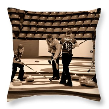 Everyone Watch The Rock 3 Jones And Muirhead Throw Pillow by Lawrence Christopher