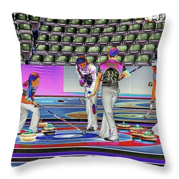 Everyone Watch The Rock 5 Jones And Muirhead Throw Pillow by Lawrence Christopher