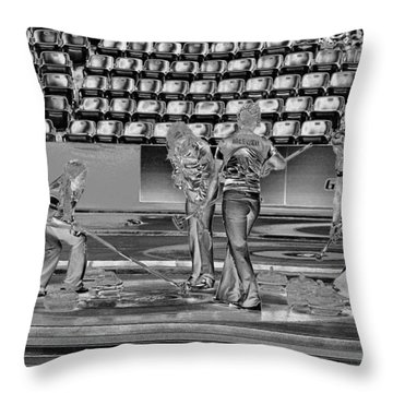Everyone Watch The Rock 6 Jones And Muirhead Throw Pillow by Lawrence Christopher