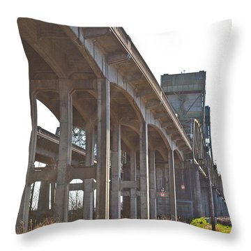 Everysville Bridge Throw Pillow