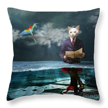 Everything Is A Matter Of Time Throw Pillow by Martine Roch