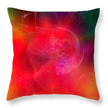 Everything Is Energy Throw Pillow by Martina  Rathgens