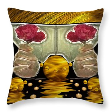 Everything Is In Order In The Universe Pop Art Throw Pillow by Pepita Selles