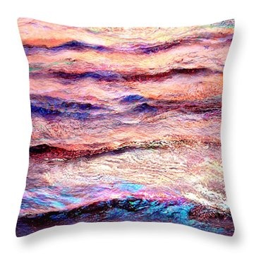 Everything Is Motion - Abstract Art Throw Pillow
